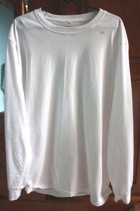 Baju Nike Tangan Panjang baju lengan panjang putih polos images