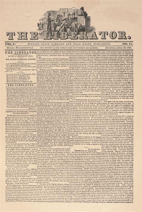 The Liberator by Liberator Photo Gallery William Lloyd Garrison S