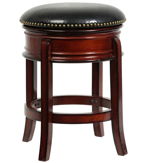 24 Inch Black Swivel Bar Stools by Hamilton 24 Inch Swivel Stool In Wood Bar Stools