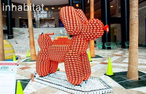 how to build a canned food sculpture 13 awesome sculptures made from food cans at canstruction