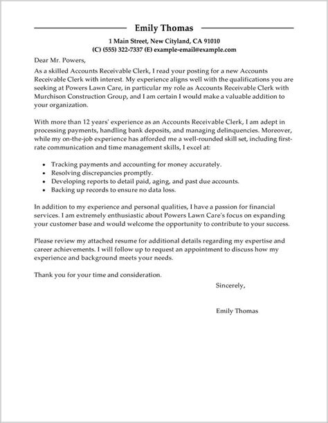 cover letter exles accounting clerk free sle cover letter accounting clerk cover letter