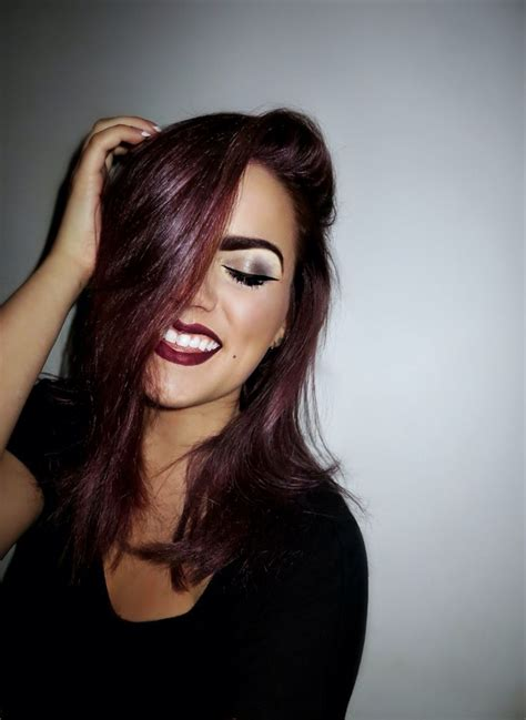 aubergine hair color aubergine hair color she curled up and dyed