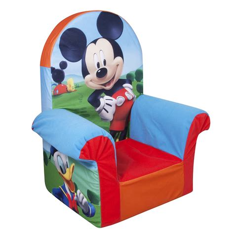 disneys mickey mouse clubhouse recliner marshmallow furniture children s foam high back chair
