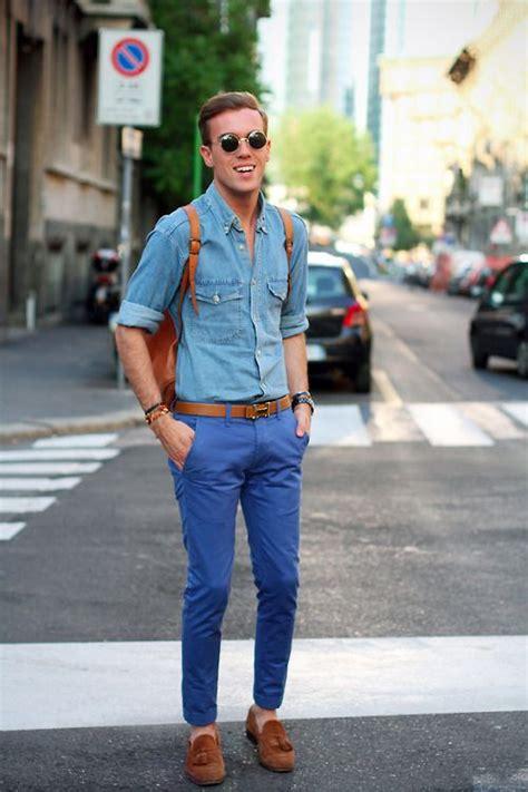 blue chino denim shirt blue chino s style