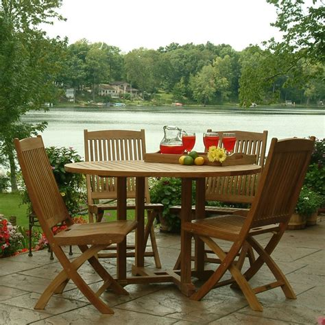 teak patio set modern patio outdoor