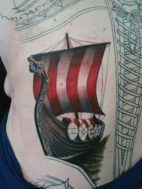 viking ship tattoo 33 best images about on
