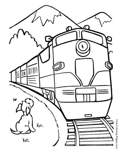long train coloring page train coloring pages
