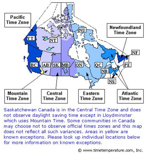 map of timezones in canada canada time zones map flickr photo