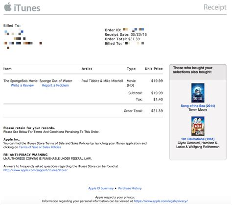 receipt template for mac apple refreshes itunes receipts with a new design