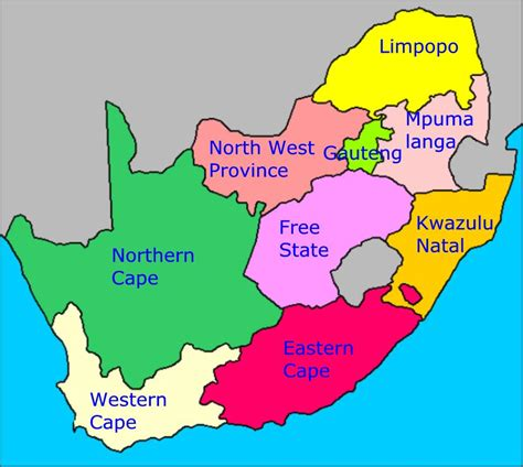 province map south africa provinces map