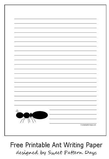 printable stationery for teachers printable black ant writing paper teacher templates