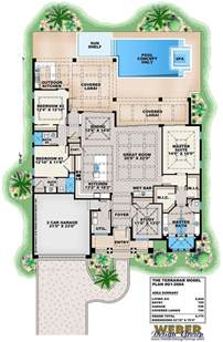 villa siena floor plans villa siena ii house plan weber design