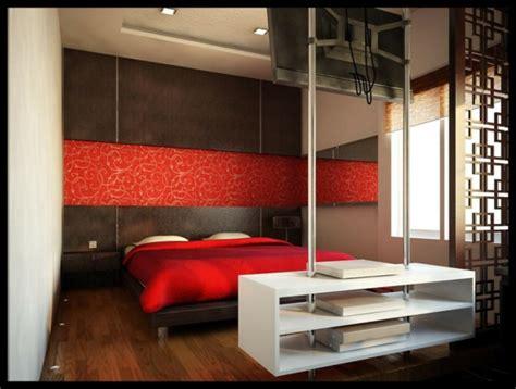 rote schlafzimmer farbe minimalistische rote schlafzimmer vibrierende rote farbe
