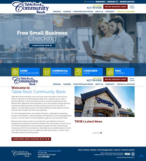 table rock community bank vision marketing branding websites marketing portfolio