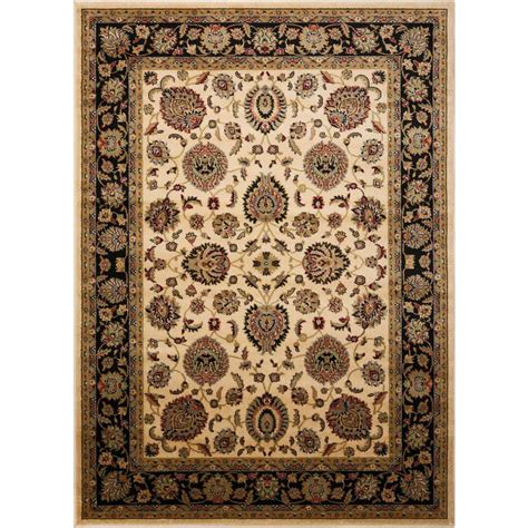 natco home fashions rugs natco stratford geo block ivory black 7 ft 3 in x 10 ft 10 in area rug 8266bk81 the home depot