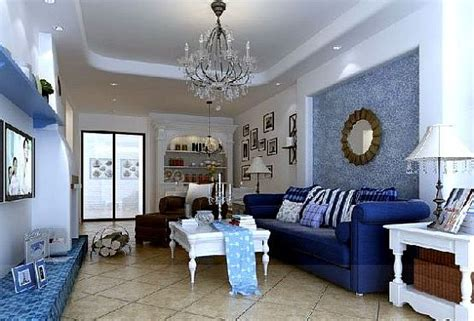 fashion simple blue living room interior design 3d living room design blue living room colors ideas