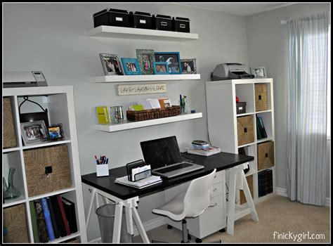Home Office Home Office Makeover Industrial Desc Bankers Office Desk Shelving