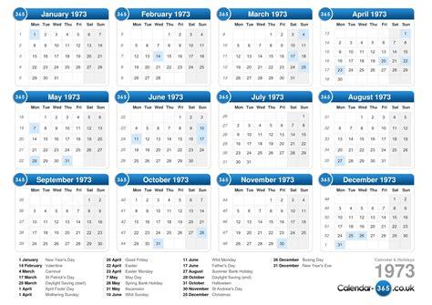 easter 1973 calendar calendar 1973