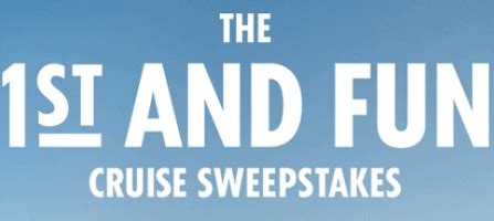 Carnival Cruise Giveaway - carnival cruise lines saints first and fun sweepstakes