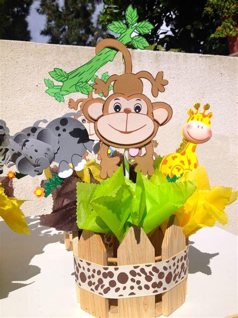 jungle theme baby shower centerpieces via etsy misc