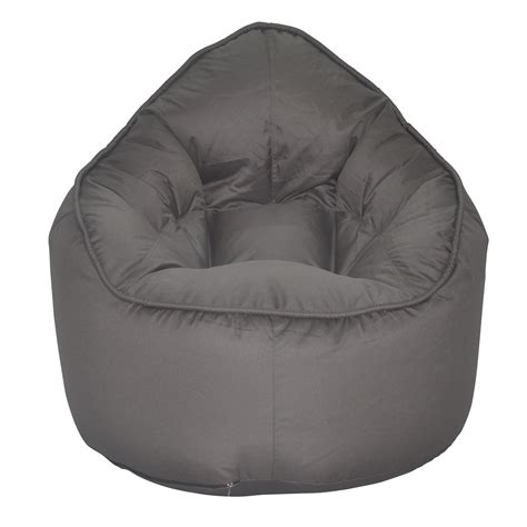 grey bean bag chair the pod bean bag chair grey