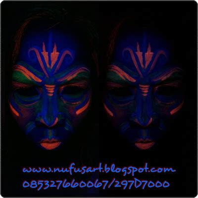 tattoo glow in the dark di jakarta horror make up zombie horror face paint uv glow in