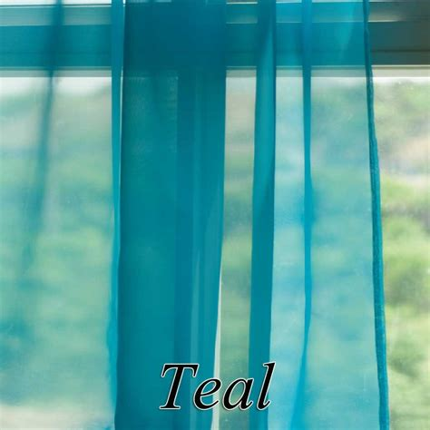 Teal Sheer Curtains Voile Sheer Curtain Panel