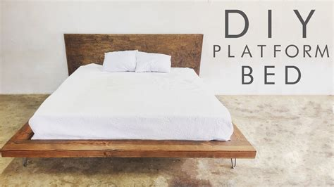diy modern platform bed modern builds ep 47