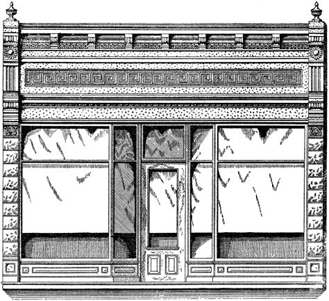 retro drawing vintage store front image the graphics fairy