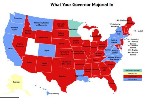 map us governors politics isn t all political science what governors major