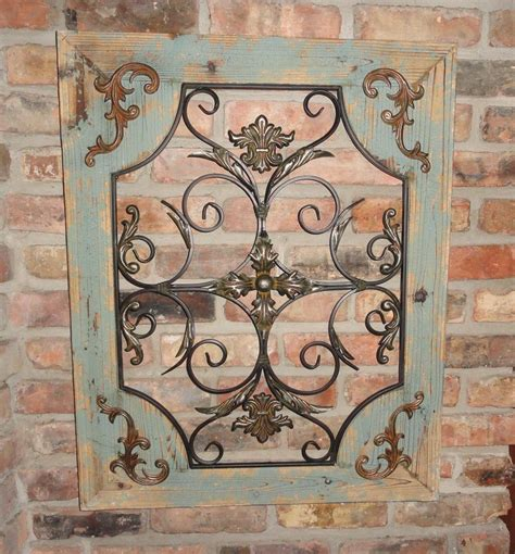 rustic turquoise wood metal wall decor cottage chic shabby home decor ebay