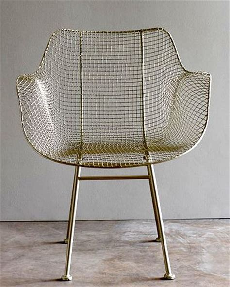 wire armchair biscayne wire chair in silver at upriver home decorating pinterest metal chairs