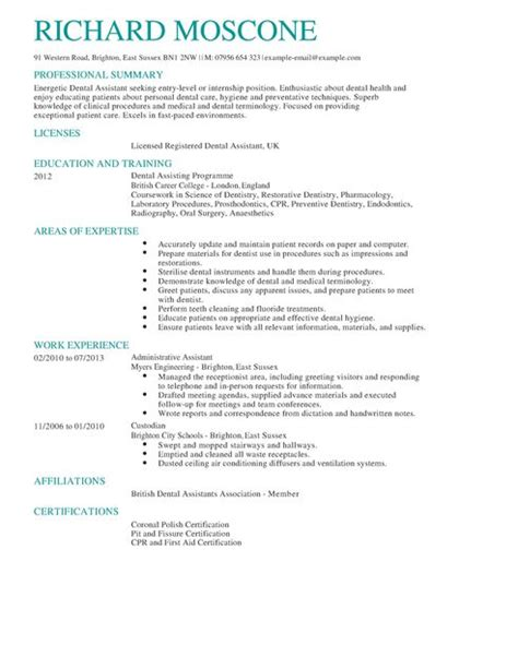 Sample Dentist Resume by Dental Assistant Cv Example For Healthcare Livecareer