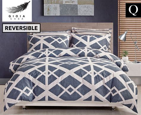 Bedcover Set Katun Polos Blue Grey gioia casa bed quilt cover set blue grey great daily deals at australia s