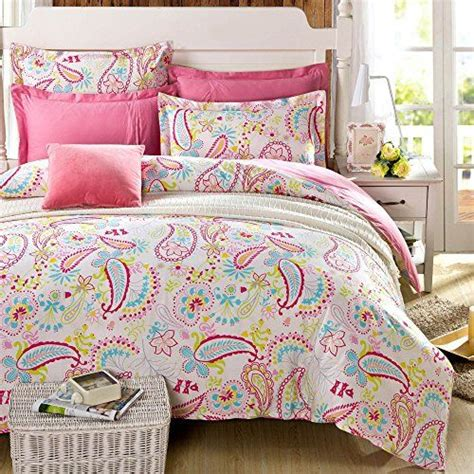 paisley twin comforter cliab paisley bedding pink twin girls duvet cover set 100