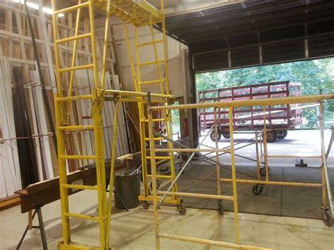 scaffolding sections biljax scaffolding lot 5x5 sections steel cross braces