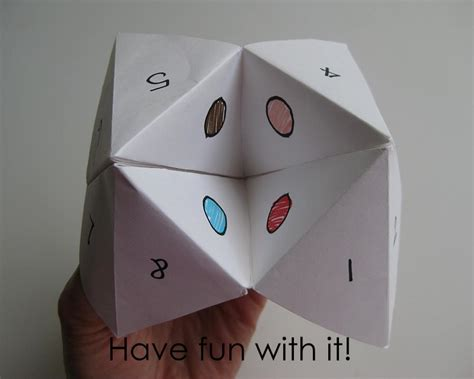 Fortune Origami - my handmade home tutorial origami fortune teller