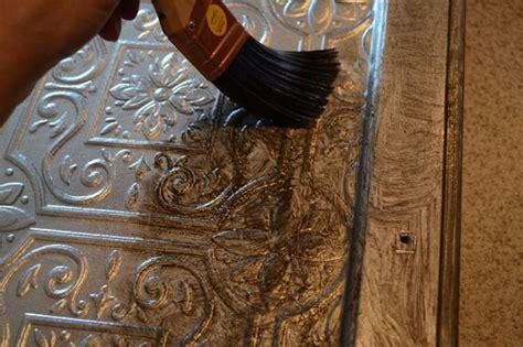 faux metal paint faux tin tile cabinets infarrantly creative
