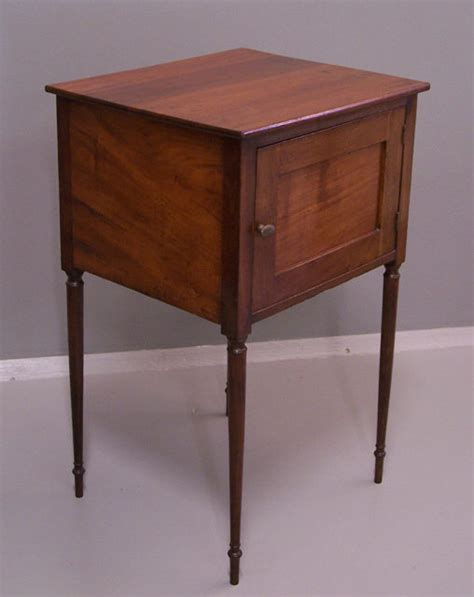 30 Inch High Nightstand Sheraton Mahogany Stand C1880 Item 5996 For Sale