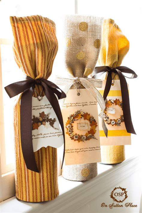 Liquor Gift Cards - no sew wine bottle gift wrap on sutton place