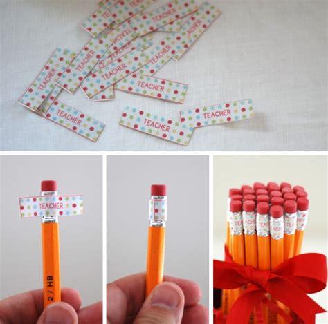 printable pencil labels diy pencil holder teachers gift back to school clip art