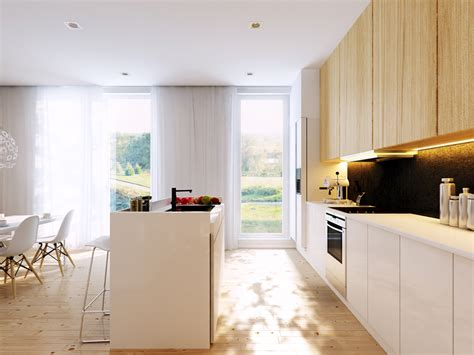 white and wood kitchen inspiring interior designs by p m studio