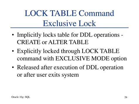 oracle lock table ppt chapter 5 data manipulation and transaction