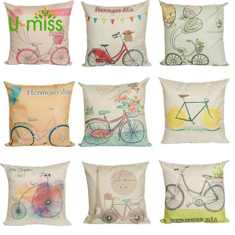 decorare cuscini u miss cartone animato cuscino bicicletta cuscino
