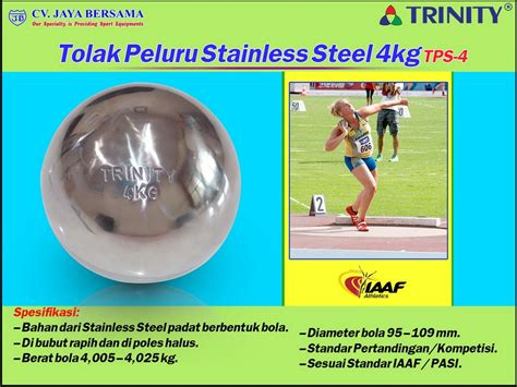 Jual Tolak Peluru Kuningan Kaskus tolak peluru stainless steel 4kg tps 4 distributor olahraga