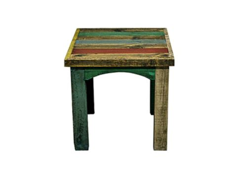 Rustic Bedroom End Tables Rustic Painted Reclaimed Slat End Table S