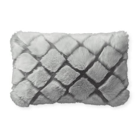 faux fur lumbar pillow faux fur accent pillows williams sonoma