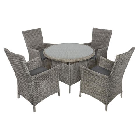 belize rattan wicker 4 seat garden furniture table