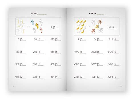 problemas rubio dividir por una cifra 4 cuaderno operaciones 4 con ejercicios de divisiones 4 186