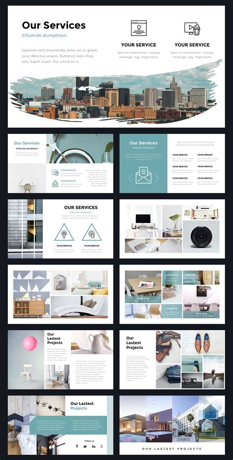 Portal Modern Powerpoint Template By Thrivisualy On Creativemarket Ppt Templates Design 및 Website Design Presentation Template